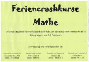 Ferienkurse Poster